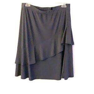 Ashley blue Grey layered skirt -L